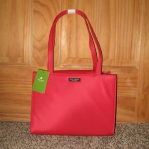 Kate Spade Red Sam With Tab Purse